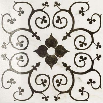 Charme Floor Pearl Inserto Bouquet Lappato Rettificato 60x60