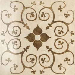 Charme Floor Cream Inserto Bouquet 60x60