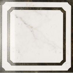 Charme Floor Pearl Inserto Frame Lux 59x59