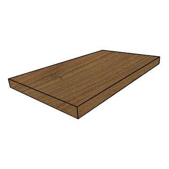 Element Wood Mogano Scalino Angolare Sinistro 33x120