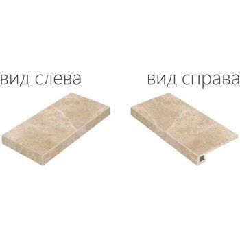 Elite Floor Cream Scalino Angolare Sinistro 33x60