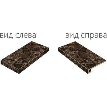 Elite Floor Dark Scalino Angolare Sinistro 33x60