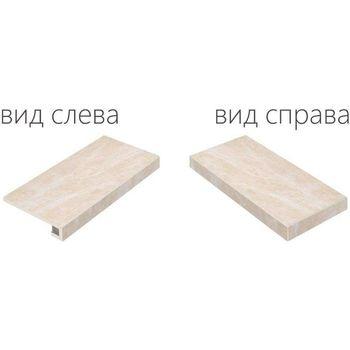 Elite Floor White Scalino Angolare Destro 33x60