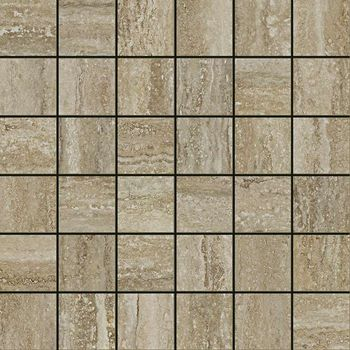 Travertino Floor Silver Mosaico Cerato 30x30