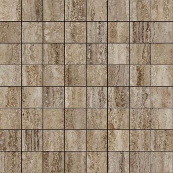 Travertino Floor Silver Mosaico Lux 29.2x29.2