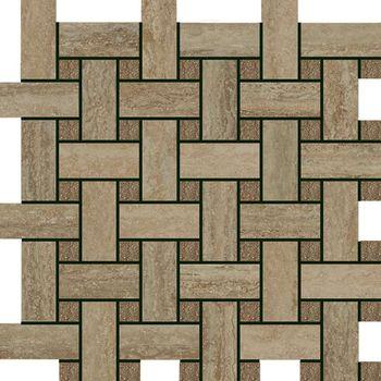 Travertino Wall Silver Mosaico Lounge 30.5x30.5